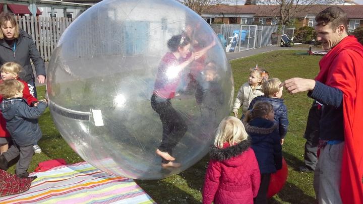 Inside giant ball
