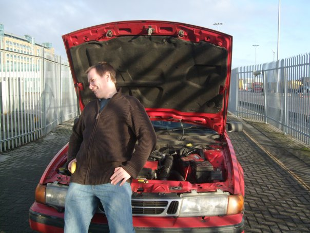 Trying to fix the car enough to make to 20 yards onto the ferry.